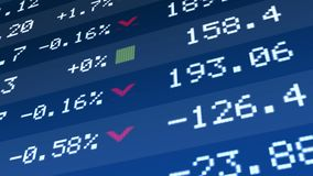 Geben Sie Wirtschaftswiederbelebung, Betriebsvermögen-Preiswachstum auf Börseanzeige an Lizenzfreies Stockbild