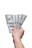 Geben von 500 Dollar Stockbild