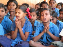 Gebet der Kinder Stockfoto
