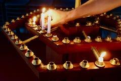 Gebet-Kerzen Lizenzfreies Stockfoto
