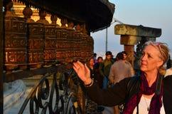 Gebet-Räder, Nepal Stockfotos