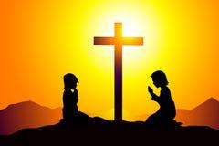 Gebet - Vektor Lizenzfreie Stockbilder