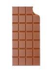 Gebeten chocoladereep Royalty-vrije Stock Afbeeldingen