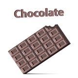 Gebeten chocoladereep op witte achtergrond Stock Fotografie