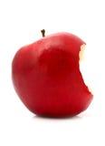 Gebeten rode appel royalty-vrije stock afbeelding