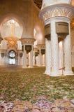 Gebetraum des Scheichs Zayed Mosque Stockbild
