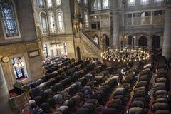 Gebetrituale der Moslems Stockbild