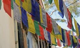 Gebets-Flaggen in Udaipur Lizenzfreies Stockfoto