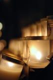Gebets-Kerzen bei Notre Dame Cathedral Paris, Frankreich Stockfotografie