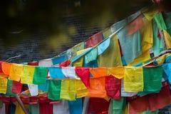 Gebetsflaggen Stockfoto