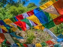 Gebetsflaggen Stockfotos