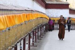 Gebetsräder von Potala-Palast Lizenzfreies Stockbild