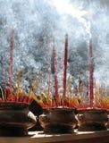 Gebetsteuerknüppel, Ho Chi Minh, Vietnam Stockfoto