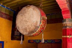 Gebetstrommel Potala. Pray Drum inside the Potala Stock Images