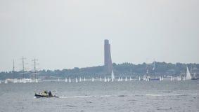 Gebeurtenis-Kiel Week - Bootras - Kiel - Duitsland - Oostzee Stock Afbeeldingen