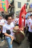 Gebeurtenis van 2015 Cheung Chau Bun Festival in Hong Kong Stock Foto's