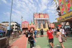 Gebeurtenis van 2015 Cheung Chau Bun Festival in Hong Kong Royalty-vrije Stock Fotografie