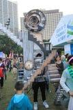 Gebeurtenis van Kunsten in het Park Mardi Gras in Hong Kong Stock Foto