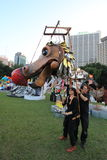 Gebeurtenis van Kunsten in het Park Mardi Gras in Hong Kong Stock Afbeeldingen