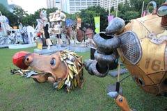 Gebeurtenis van Kunsten in het Park Mardi Gras in Hong Kong Royalty-vrije Stock Foto