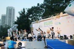 Gebeurtenis van Kunsten in het Park Mardi Gras in Hong Kong 2014 Stock Foto's