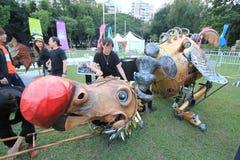 Gebeurtenis van Kunsten in het Park Mardi Gras in Hong Kong 2014 Stock Foto