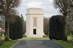 Gebied België Waregem van Vlaanderen van de Wereldoorlog I het Amerikaanse begraafplaats stock fotografie