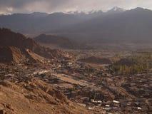 Gebied dichtbij vroeger Royal Palace van de Namgyal-dynastie in Leh, Ladakh-gebied, India Royalty-vrije Stock Afbeeldingen