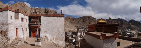 Gebied dichtbij vroeger Royal Palace van de Namgyal-dynastie in Leh, Ladakh-gebied, India Royalty-vrije Stock Fotografie