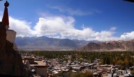 Gebied dichtbij vroeger Royal Palace van de Namgyal-dynastie in Leh, Ladakh-gebied, India Royalty-vrije Stock Foto