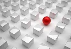 Gebied en kubus stock illustratie