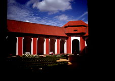 Gebied in klooster Marianska Tynice, Tsjechische Republiek stock foto