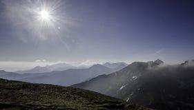 Gebied Liptov in Slowakije een zijn aard en hoge tatrasbergen stock afbeeldingen