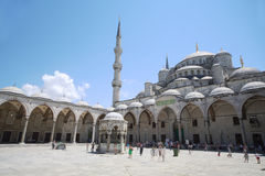 Gebied met mensen in Hagia Sophia Stock Foto's