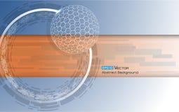 Gebied met zeshoeken Vector Illustratie
