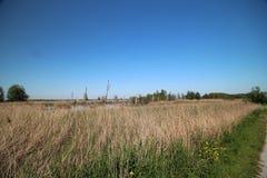 Gebied rond Zevenhuizerplas, een meer tussen Oud Verlaat en Rotterdam Nesselande stock foto