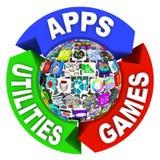 Gebied van Apps in het Diagram van het Stroomschema stock illustratie