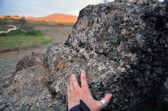 Gebied van de Myvatn het vulkanische lava in IJsland royalty-vrije stock afbeeldingen