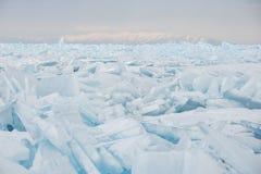 Gebied van gebarsten ijs Royalty-vrije Stock Foto