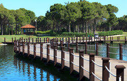 Gebied van Golfclub Sueno. Stock Foto