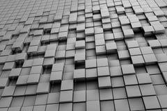 Gebied van grijze 3d kubussen 3d geef image Stock Foto