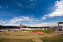 Gebied van het de Ceremoniestadion van het Naadamfestival het Openings Royalty-vrije Stock Afbeeldingen