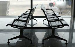 Gebied van het luchthaven het eindvertrek binnen Royalty-vrije Stock Foto