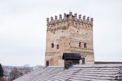 Gebied van oud Lubart-kasteel in Lutsk de Oekraïne royalty-vrije stock foto