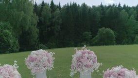 Gebied voor huwelijksregistratie stock footage