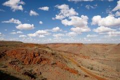 Gebied voor Ijzerertsexploratie - Pilbara - Australië Stock Foto's