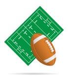 Gebied voor rugby vectorillustratie Stock Foto