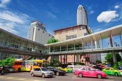 Gebied vooraan Centrale Wereld De stad van Bangkok Stock Afbeeldingen