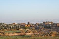 Gebieden bij Dahla-oase stock foto
