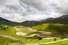 Gebieden in Castelluccio van Norcia Stock Afbeeldingen